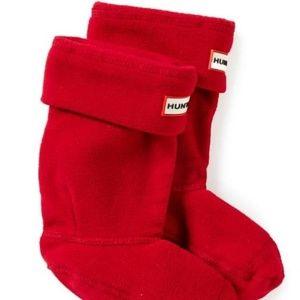 New in Box Hunter Red Fleece Welly Socks L